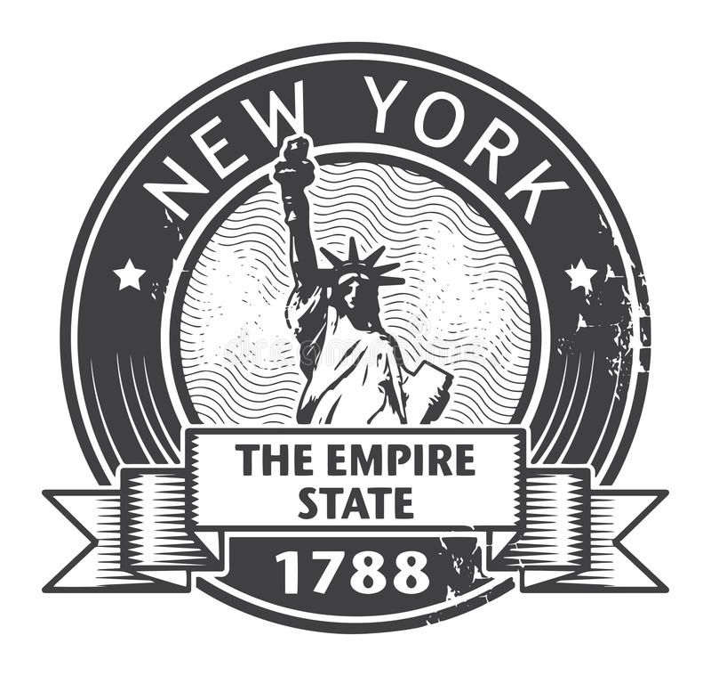 Selo de New York City ilustração do vetor