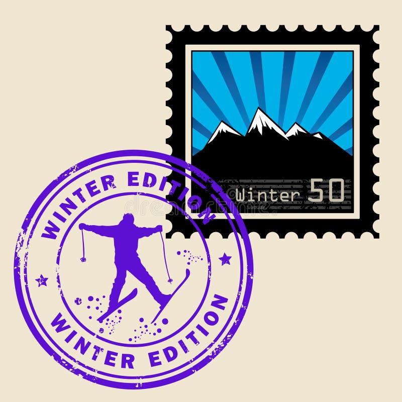 Selo de porte postal ilustração do vetor