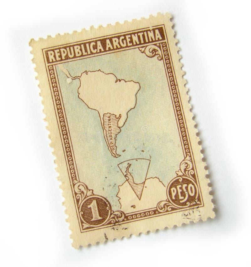 Selo de porte postal de Argentina fotos de stock royalty free