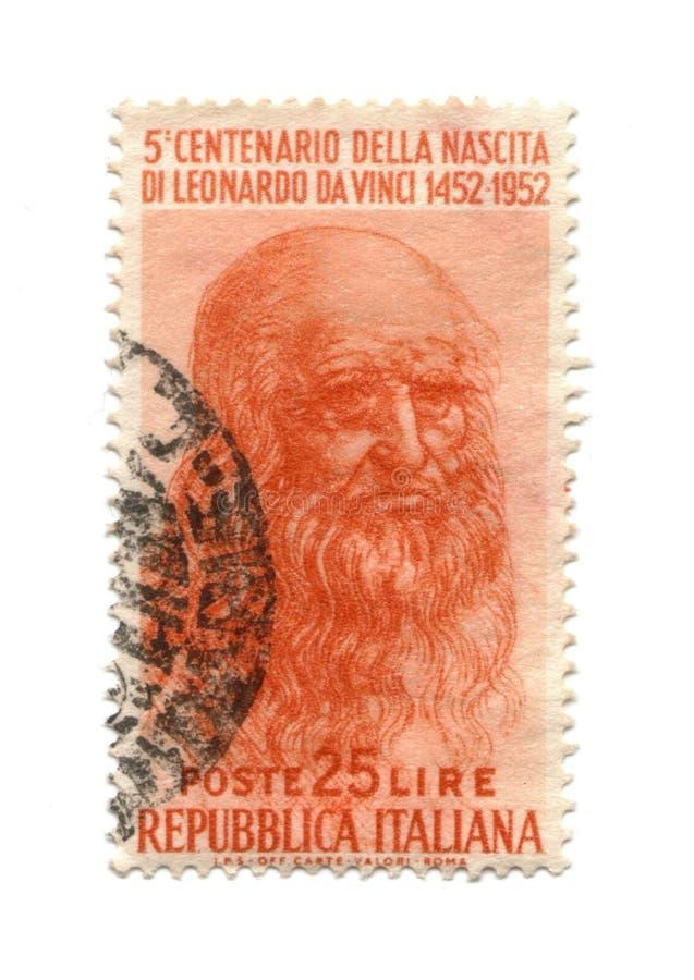 Selo de porte postal de Italy datado 1952 fotos de stock