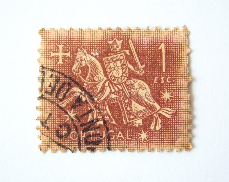 Selo de porte postal de Portugal imagens de stock