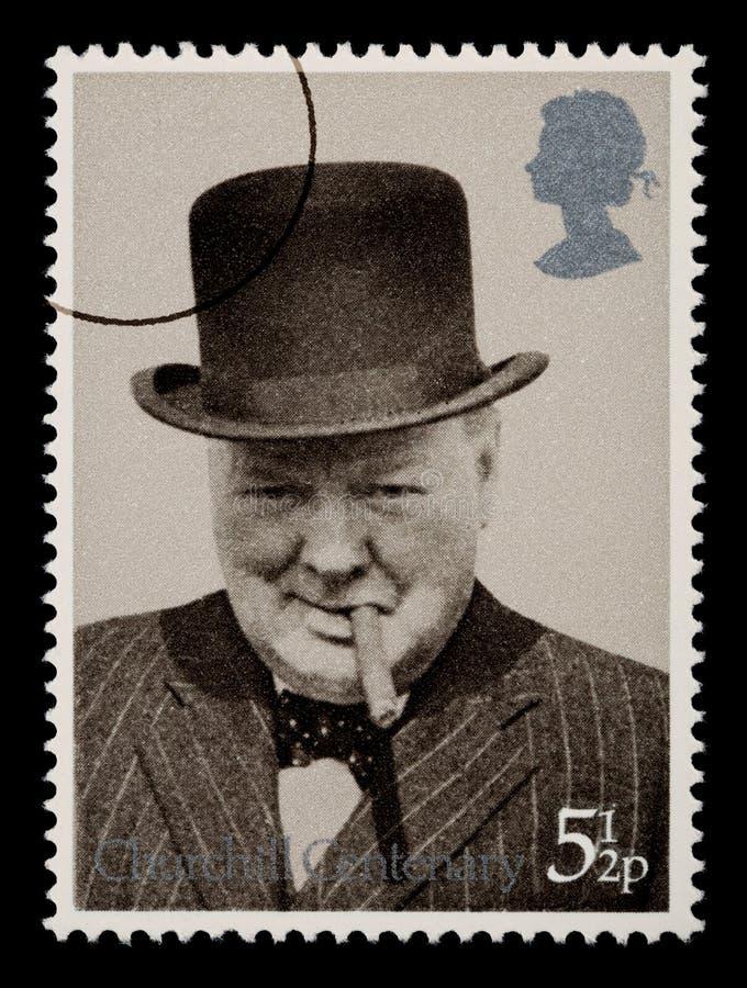 Selo de porte postal de Winston Churchill ilustração stock