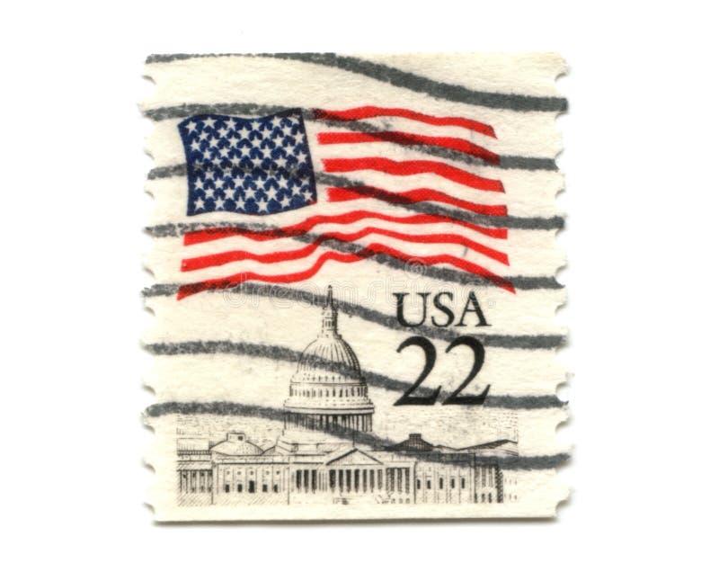 Selo de porte postal dos E.U. no fundo branco foto de stock royalty free