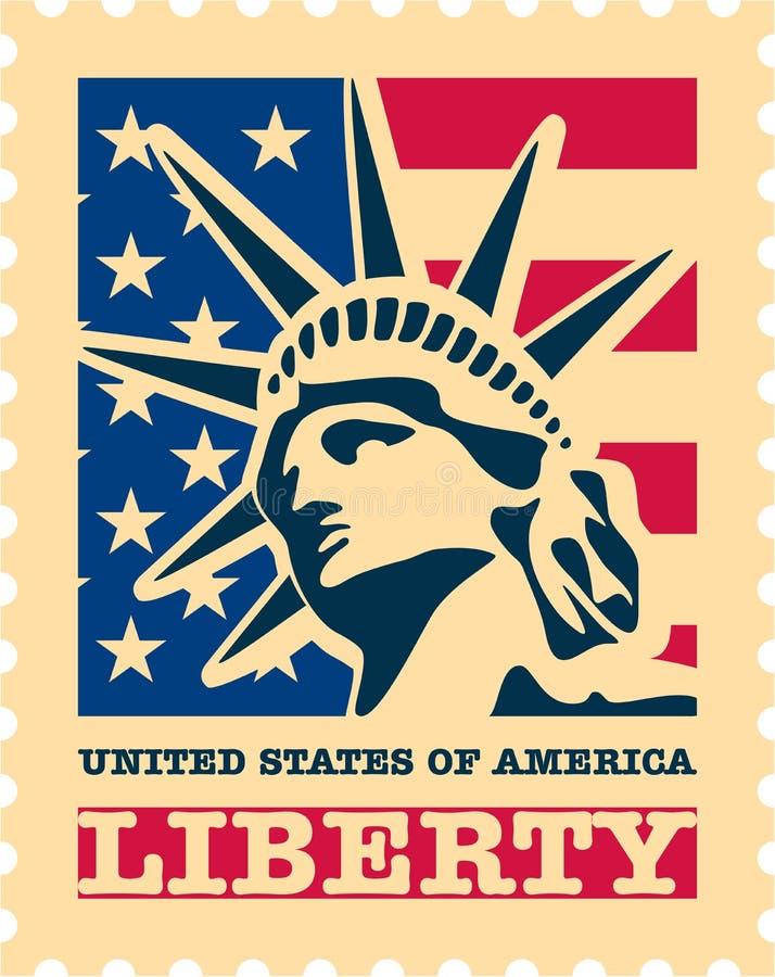 Selo de porte postal dos EUA. ilustração royalty free