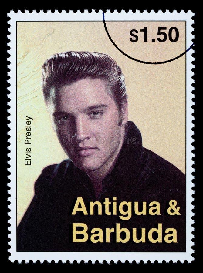 Selo de porte postal de Elvis Presely imagem de stock
