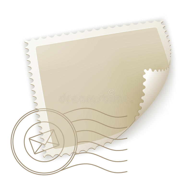 Selo de porte postal em branco ilustração do vetor