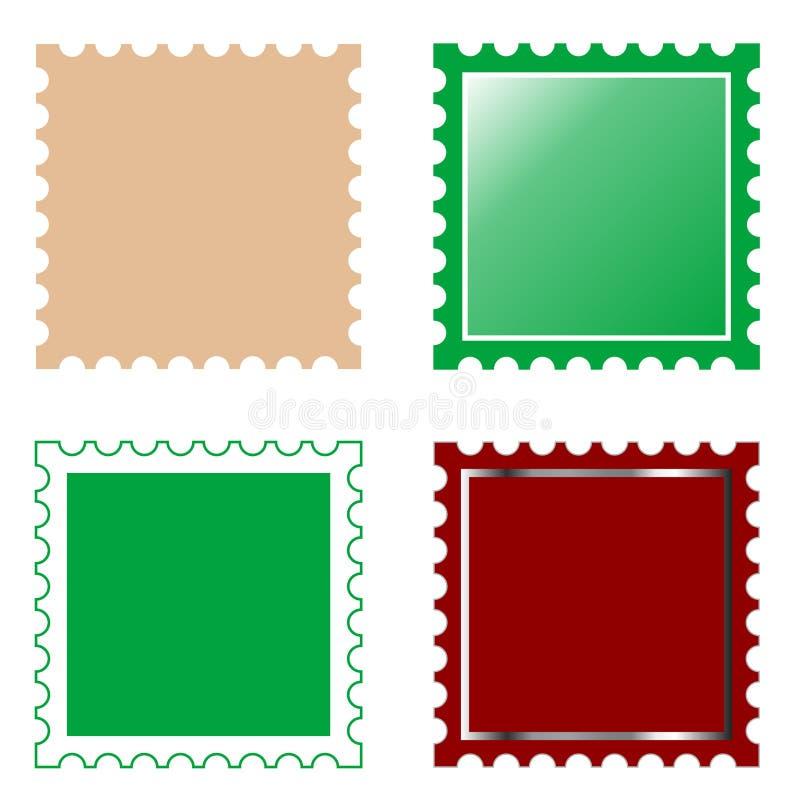 Selo de porte postal quadrado do vetor ilustração stock