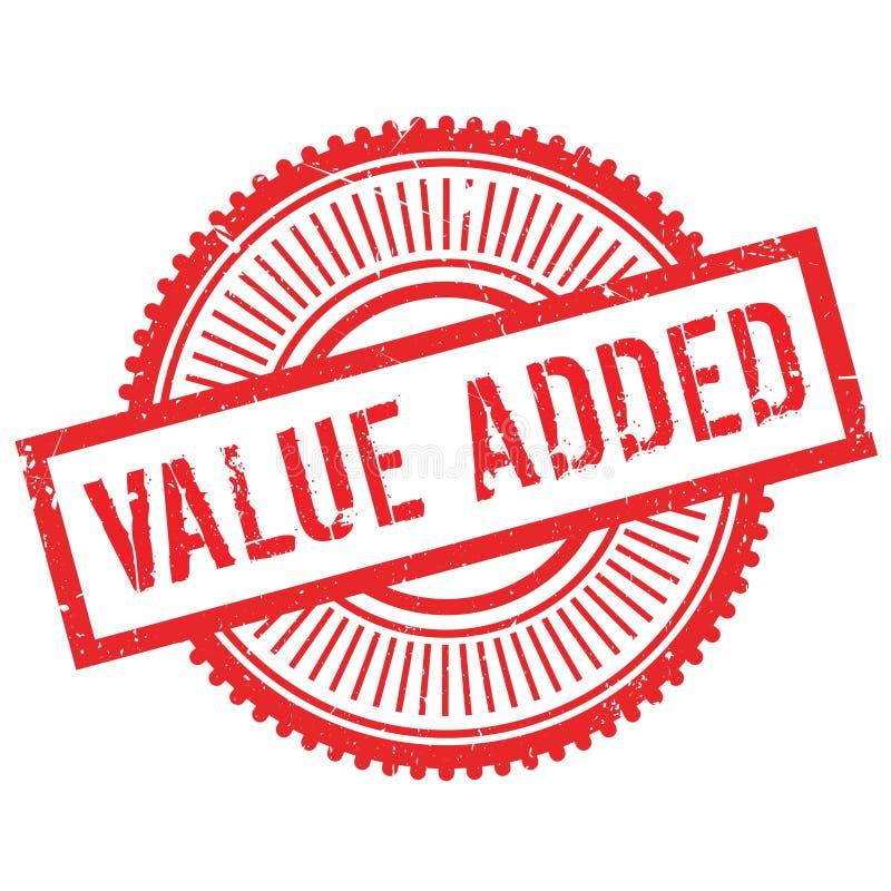 Selo de valor acrescentado ilustração stock