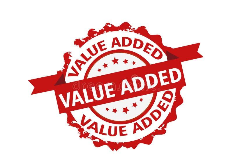 Selo de valor acrescentado sinal Vetor ilustração stock