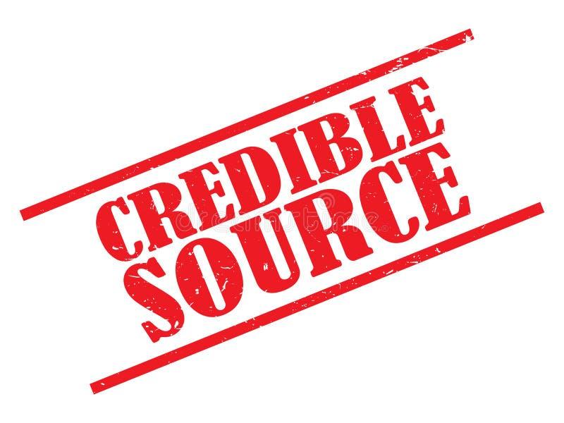 Selo digno de crédito da fonte ilustração do vetor