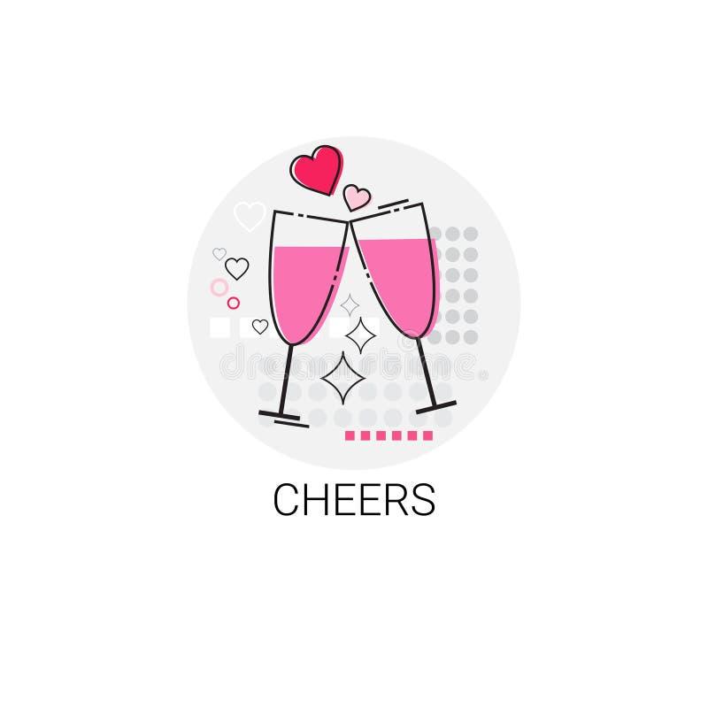 Selo do ícone do amor de Valentine Day Gift Card Holiday ilustração royalty free