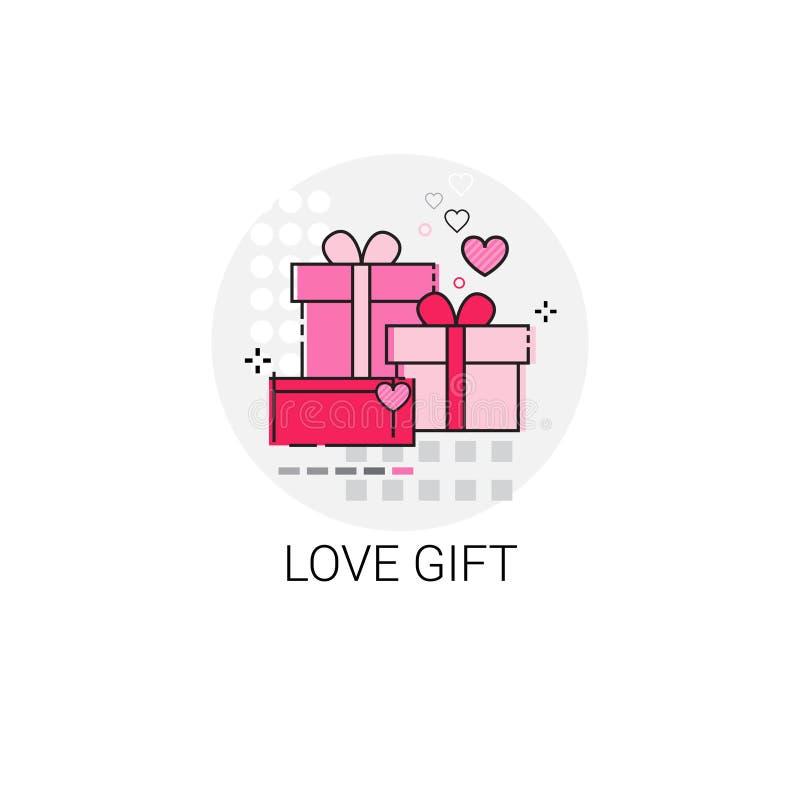 Selo do ícone do amor de Valentine Day Gift Card Holiday ilustração stock