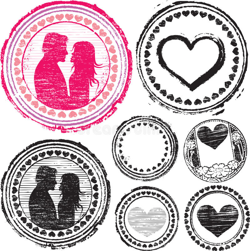 Selo do amor ilustração stock