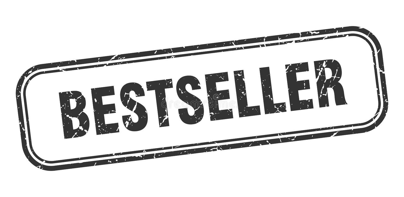 Selo do bestseller ilustração royalty free