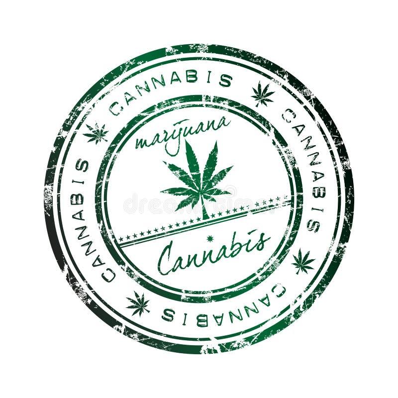 Selo do cannabis ilustração stock