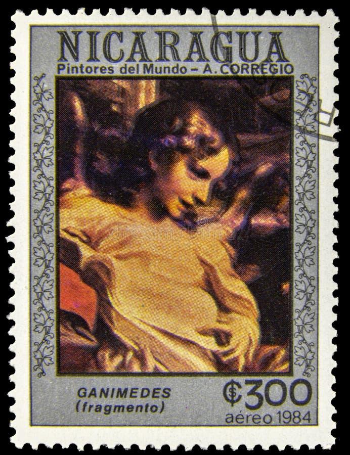 Selo do cargo de Ganymede imagens de stock royalty free