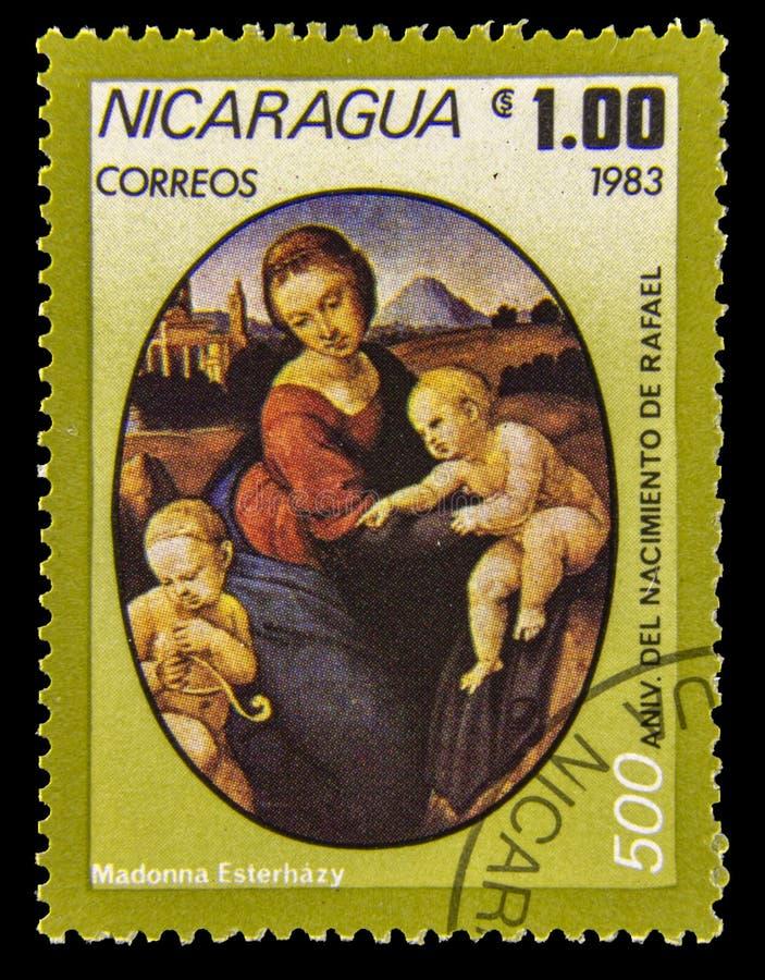 Selo do cargo de Madonna Esterhazy fotografia de stock
