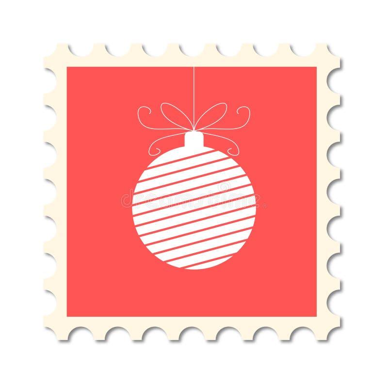 Selo do cargo do Natal ilustração royalty free