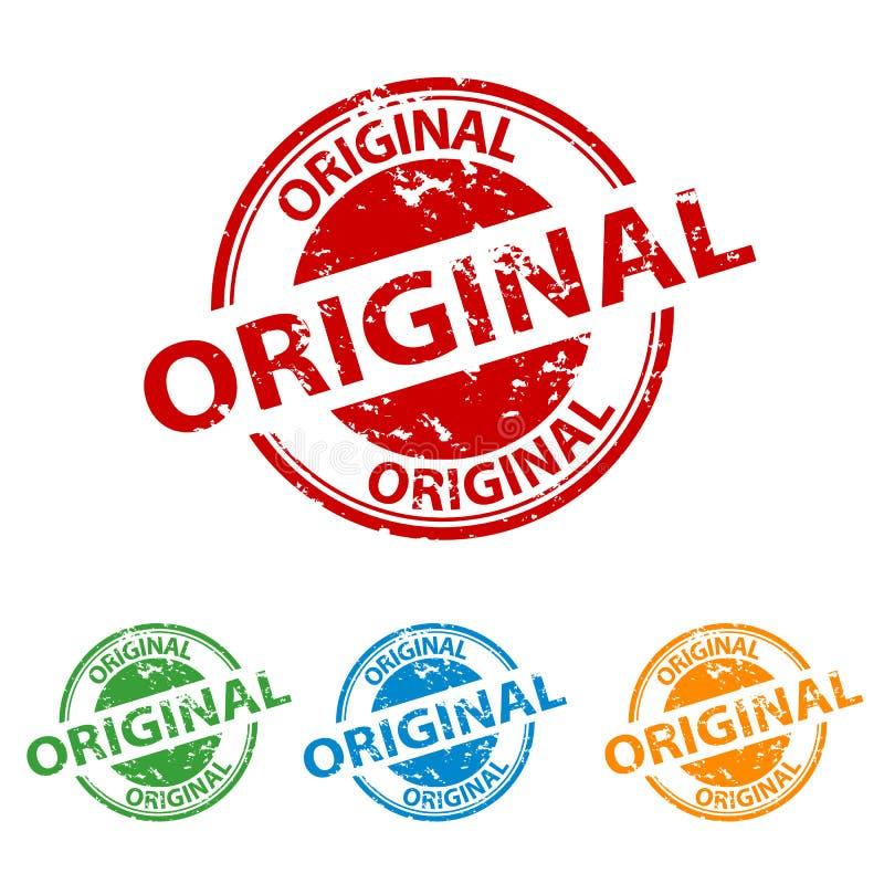 Selo do carimbo de borracha - original - grupo colorido do vetor ilustração royalty free