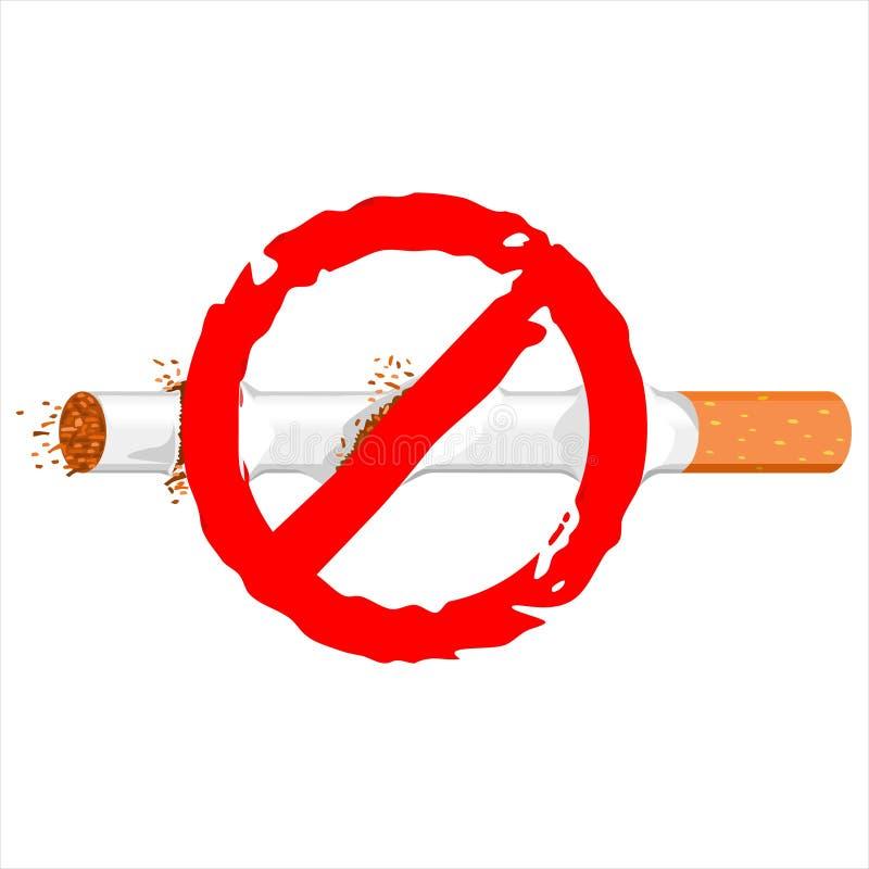 Selo do cigarro não fumadores ilustração do vetor
