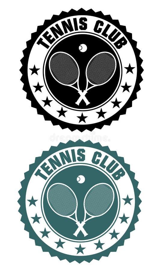 Selo do clube de tênis ilustração stock