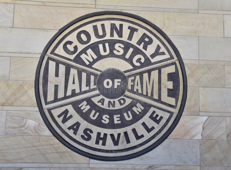 Selo do corredor da fama e do museu da música country foto de stock