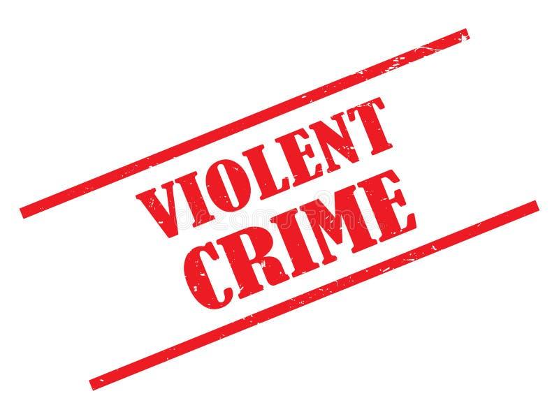 Selo do crime violento ilustração royalty free