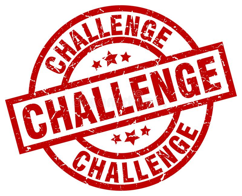 Selo do desafio ilustração stock