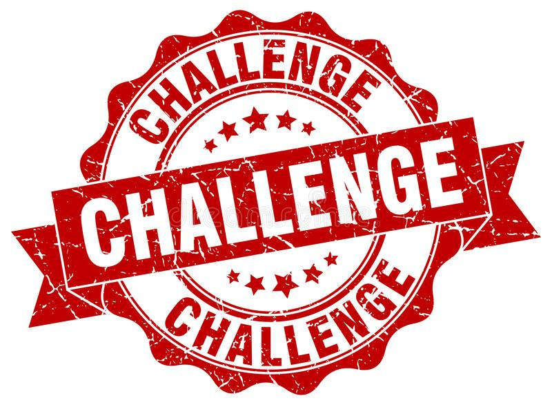 Selo do desafio ilustração do vetor