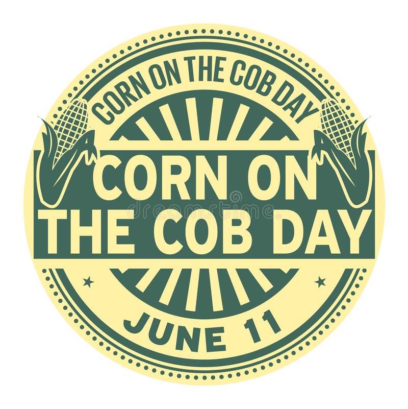 Selo do dia da espiga de milho ilustração royalty free