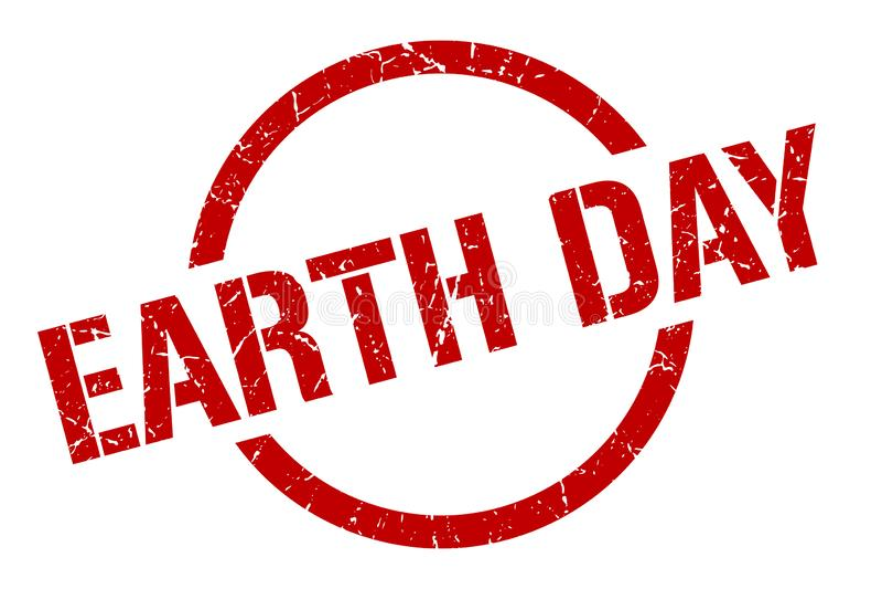 Selo do Dia da Terra ilustração royalty free