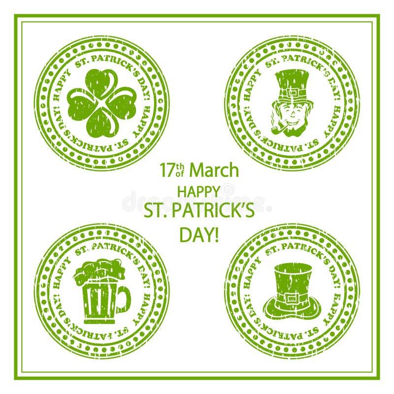 Selo do dia do St Patricks ilustração royalty free