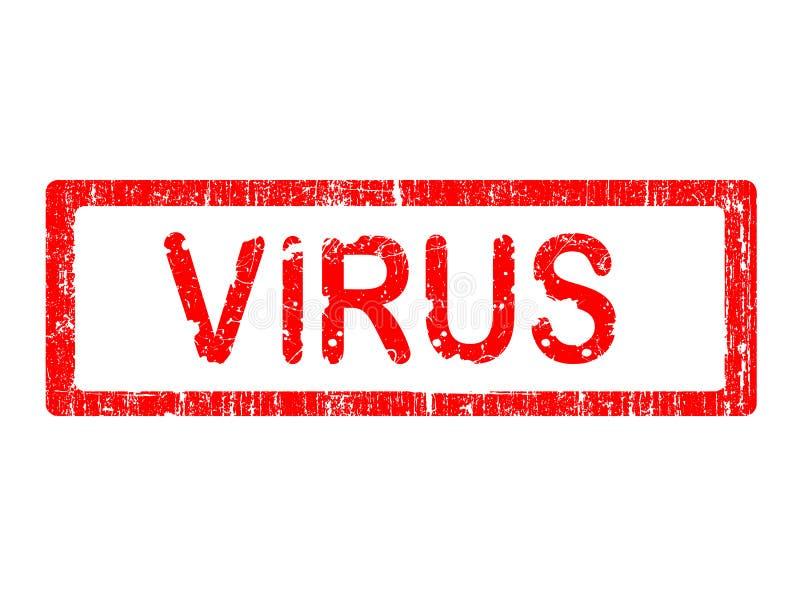 Selo do escritório de Grunge - VÍRUS fotografia de stock