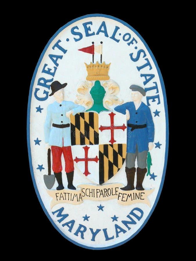 Selo do estado de Maryland imagem de stock
