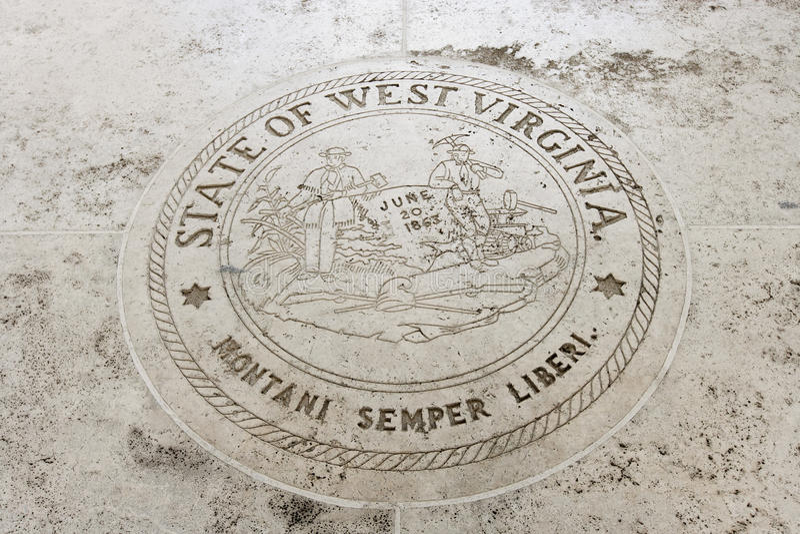 Selo do estado de West Virginia em Fort Bonifacio, Manila, Filipinas imagens de stock