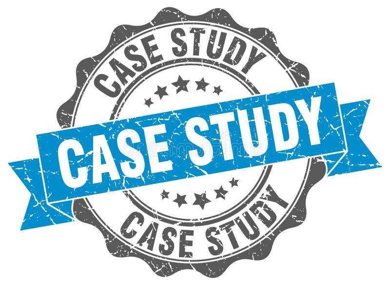 Selo do estudo de caso selo ilustração stock