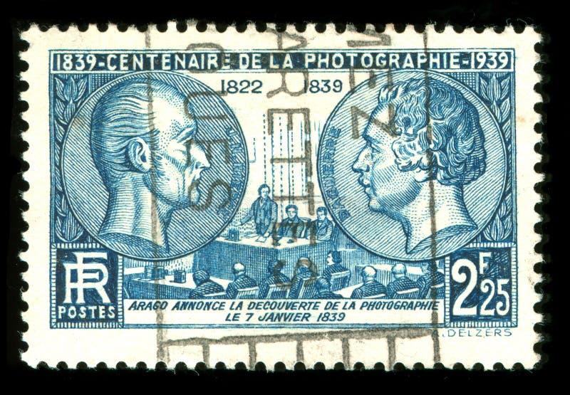 Selo do francês do vintage imagem de stock