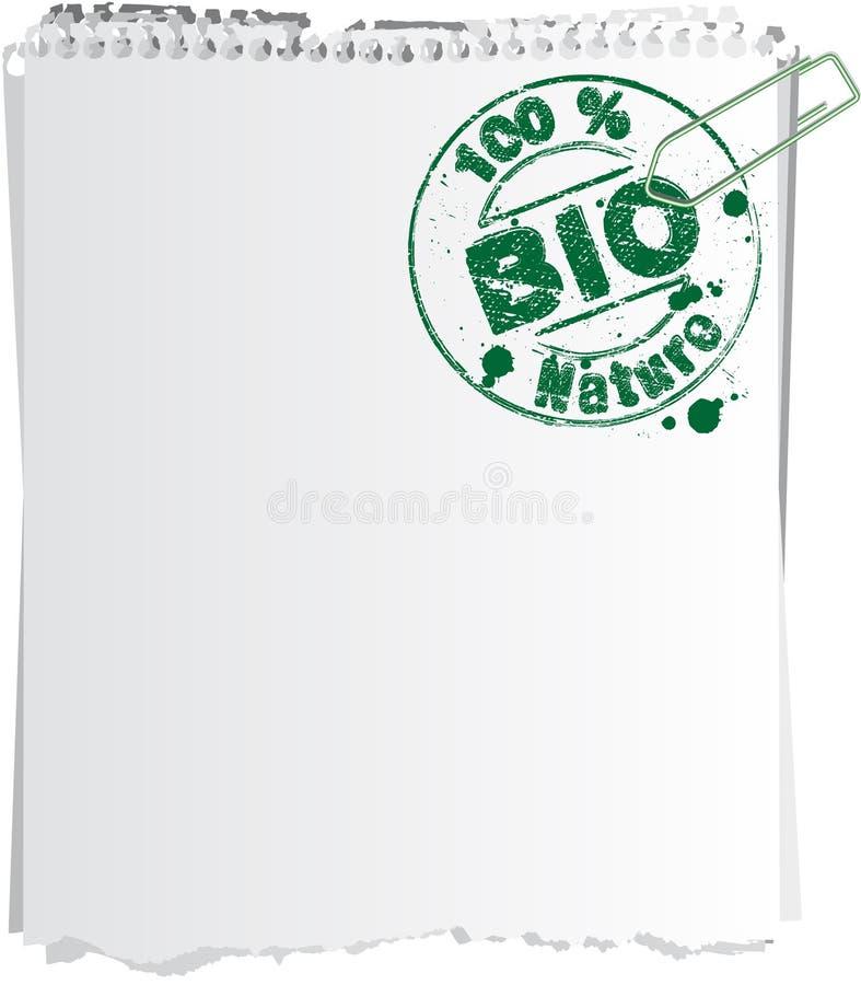 Selo do grampo da observação bio ilustração royalty free