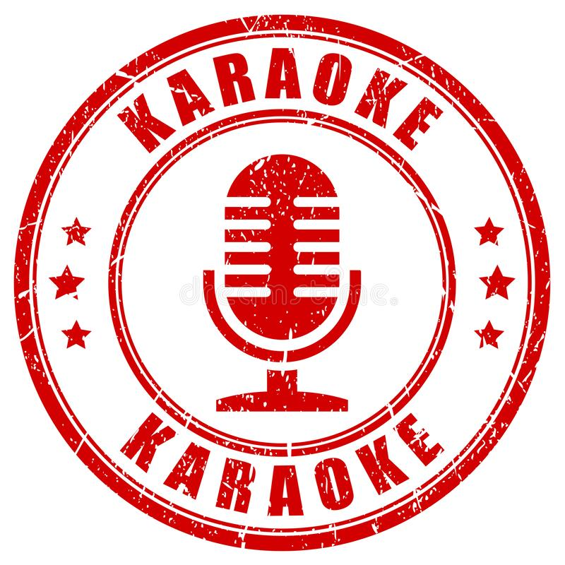 Selo do karaoke ilustração stock