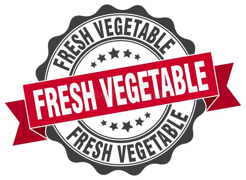 selo do legume fresco selo ilustração do vetor