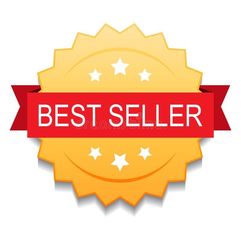Selo do selo do melhor vendedor ilustração do vetor