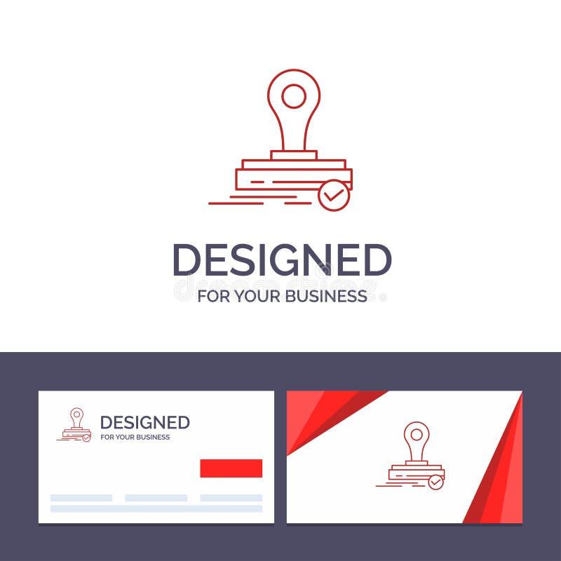 Selo do molde criativo do cartão e do logotipo, clone, imprensa, Logo Vetora Illustration ilustração royalty free