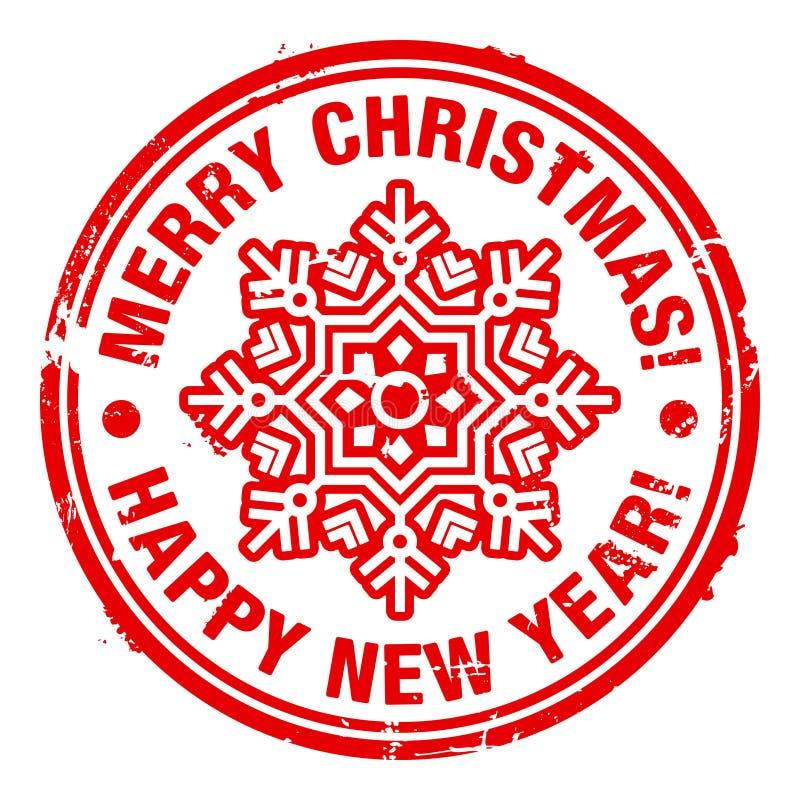 Selo do Natal ilustração royalty free