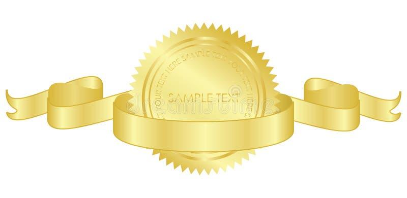 Selo do ouro ilustração royalty free