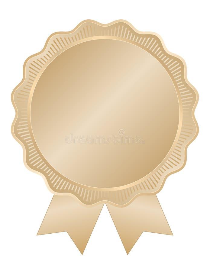 Selo do ouro com borda ondulada ilustração stock