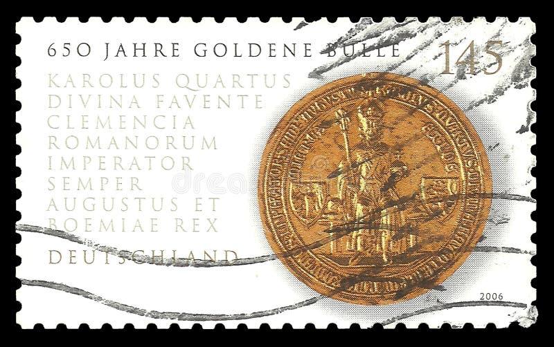 Selo do ouro do rei Charles fotografia de stock royalty free