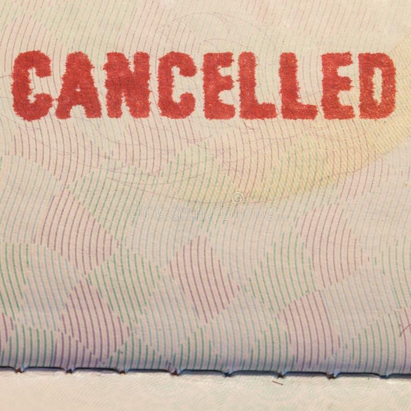 Selo do passaporte cancelado fotos de stock royalty free