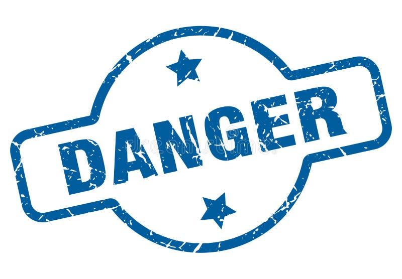 Selo do perigo ilustração do vetor