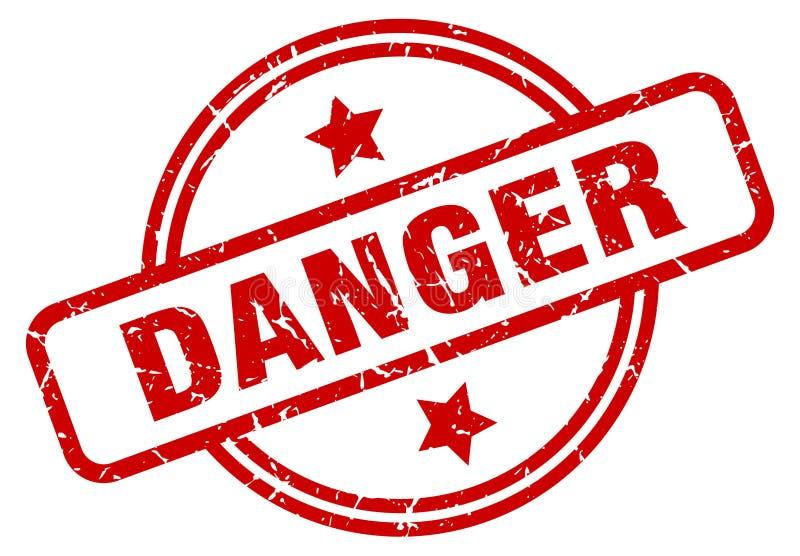 Selo do perigo ilustração stock