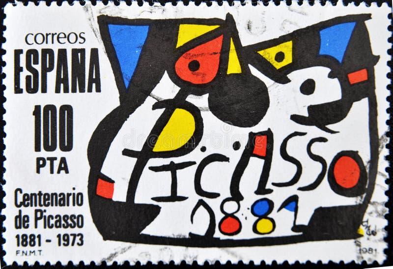 Selo do pintor Pablo Picasso fotos de stock royalty free
